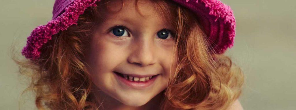 Pretty little girl in pink hat - Paternity